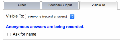 Record anonymous answers